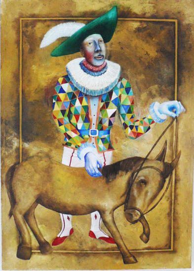 DOMADOR DE BURROS Canvas Oil Figure Painting