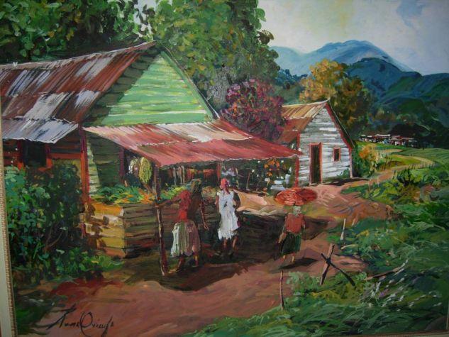 paisaje dominicano Acrílico Lienzo Paisaje