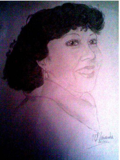 Retrato de mi madre Grafito