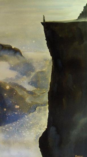 Spiritus Mundi III Cristal Acuarela Paisaje