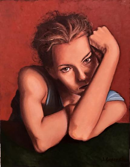 Nostalgia Canvas Oil Figure Painting
