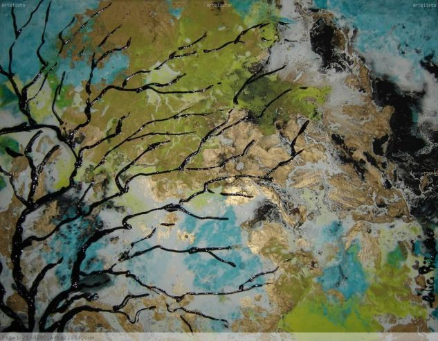 Árvore Somente Óleo Lienzo Paisaje