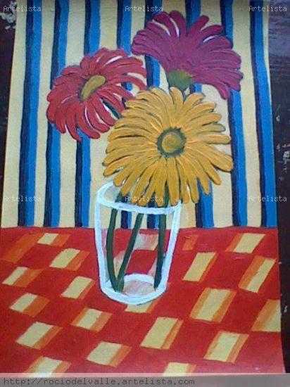 2009 Cartulina Acrílico Floral