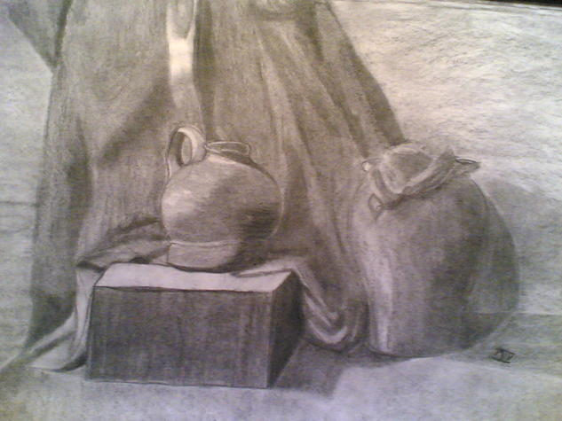 Botijos Paper Graphite Still Life Paintings