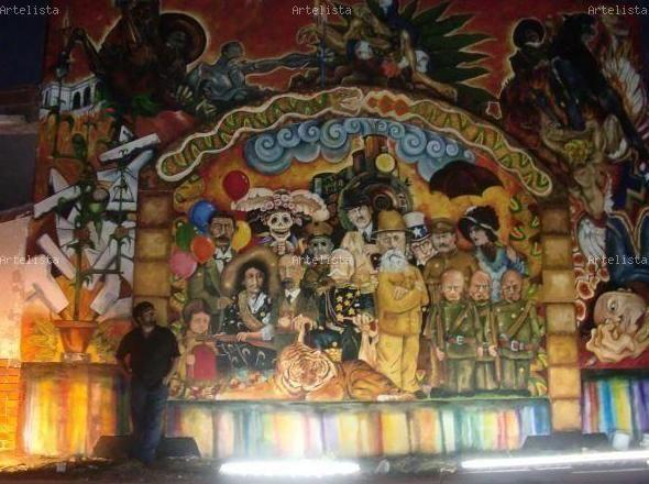 mural de la revolucion mexicana caballero moises