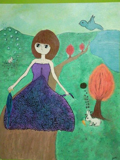 Alice Fantasy Canvas Others Acrylic