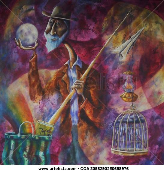 Mudanzas Canvas Acrylic Figure Painting