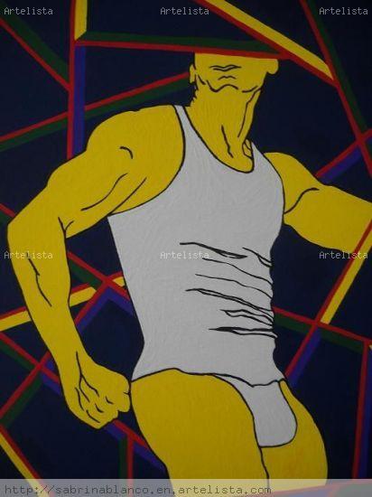 MAN II Acrílico Lienzo Desnudos