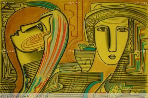 SELECCION ESPECIAL 20 OBRAS CLASE EXPORTACION 2008 I Mixed media Canvas Figure Painting