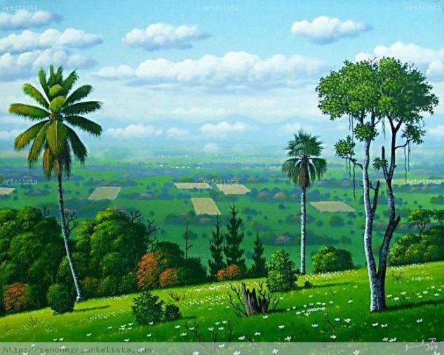 Valle de la Vega Real Paisaje Lienzo Acrílico