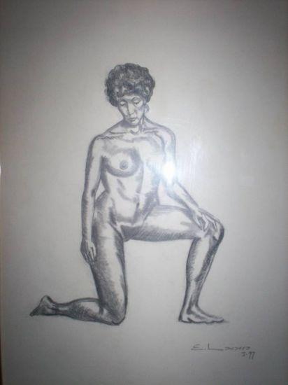 Desnudo I Lápiz (Negro) Papel Desnudos