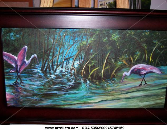 reflejos Landscaping Oil Canvas