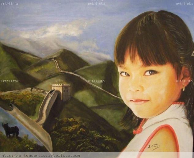 Irene de oriente a occidente Óleo Lienzo Retrato