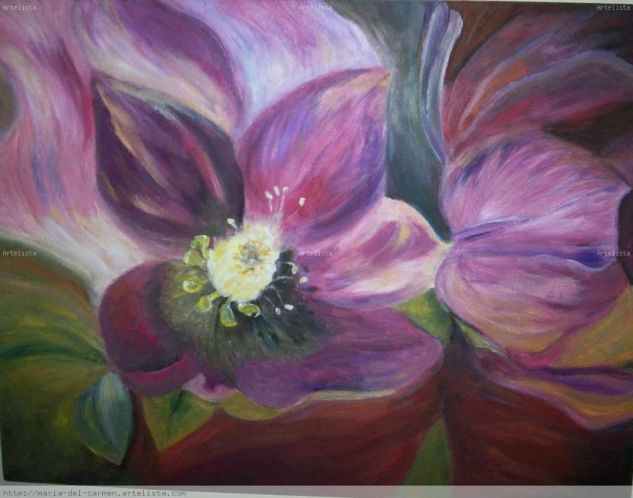 Flor deseada Oil Panel Floral Painting