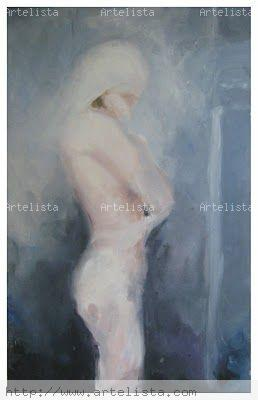 Existencia Oil Paper Figure Painting