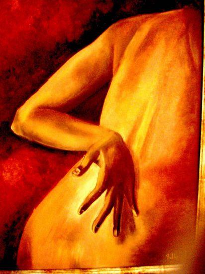de espaldas Óleo Lienzo Desnudos