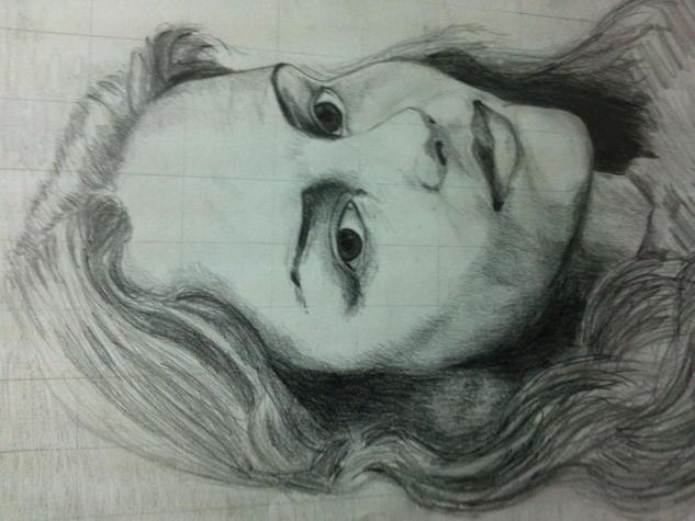 retrato Pencil (Black) Paper Portrait