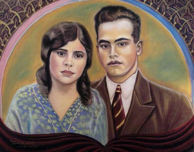 Delgado Altamirano Pastel Lienzo Retrato