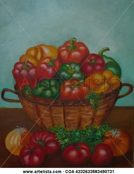 PIMIENTOS Canvas Oil Still Life Paintings