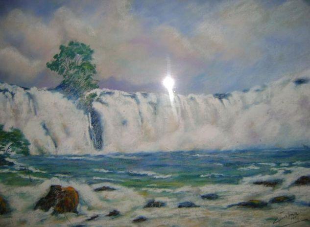 La fuerza de la naturaleza Pastel Papel Paisaje