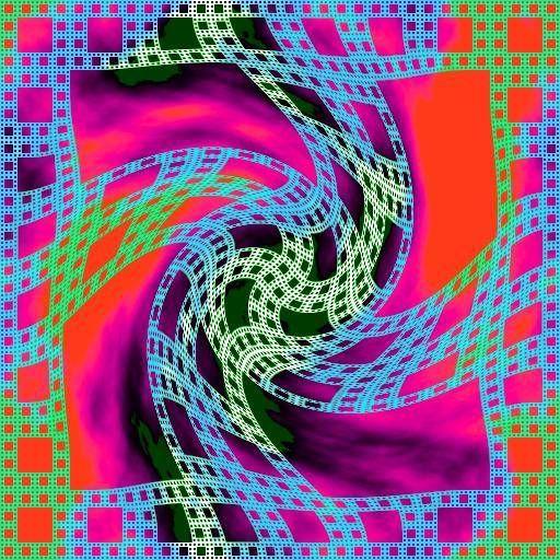 Contorsion fractal