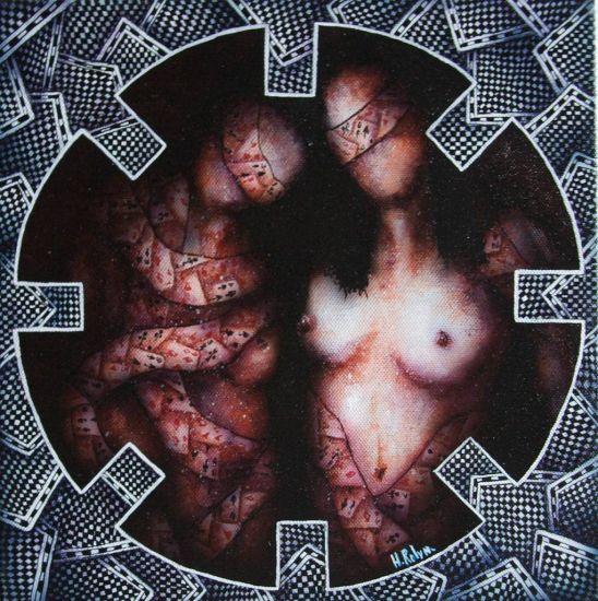 VII Acrílico Lienzo Desnudos