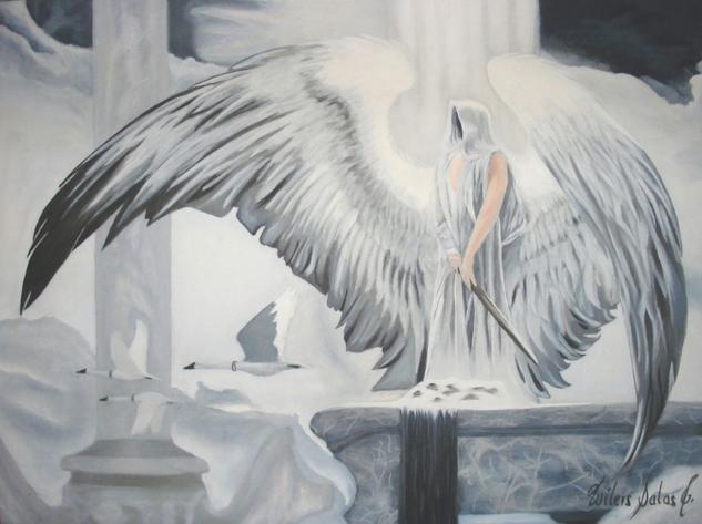 Angel guardian Lienzo Otros Óleo