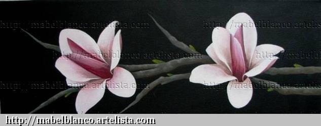 Tulipán Japonés Lienzo Acrílico Floral