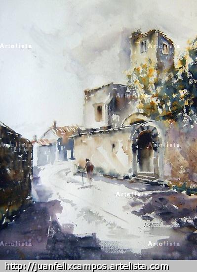 Perdraza (Segovia) Papel Paisaje Acuarela