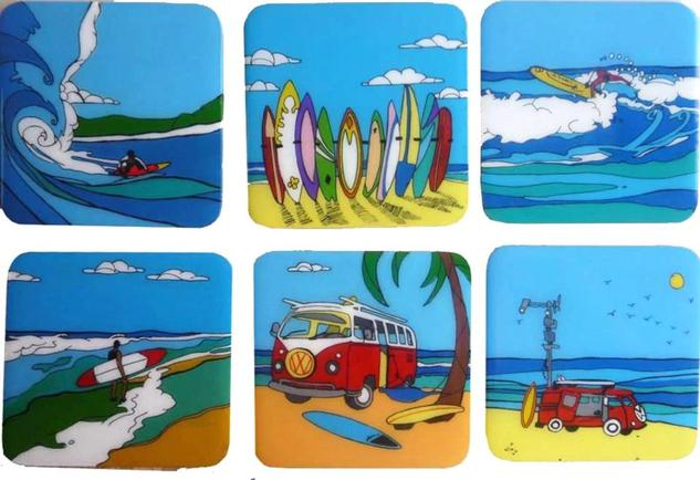 SURF Marine Painting Acrylic Panel