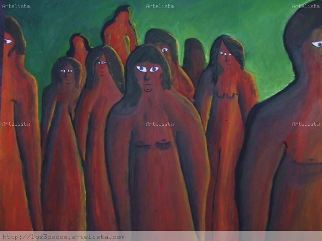 Miradas en soledad Panel Acrylic Nude Paintings