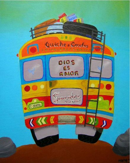 Le Bus Acrylic Canvas Others