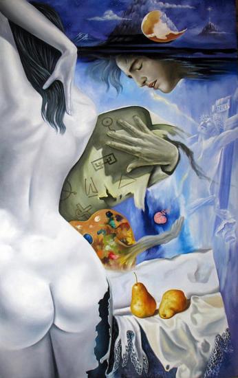 Transmutación del artista Lienzo Óleo Figura