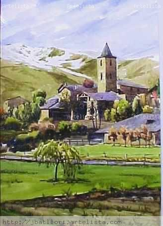 Llessui . Pirineo Catalan Watercolour Paper Landscaping