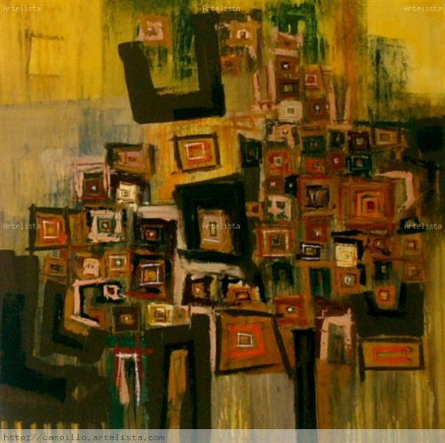 poem of colors III Acrylic Canvas Landscaping