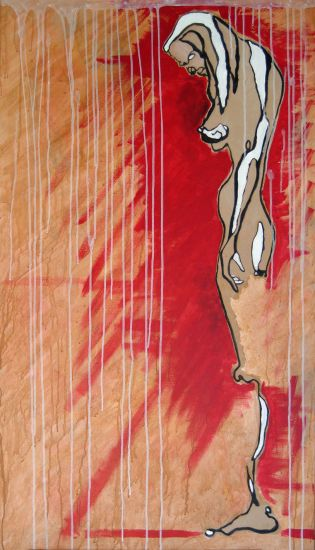 Eva Canvas Acrylic Figure Painting