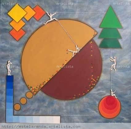 Los Cuatro Elementos -Serie Juegos Perdidos Media Mixta Tela Otros