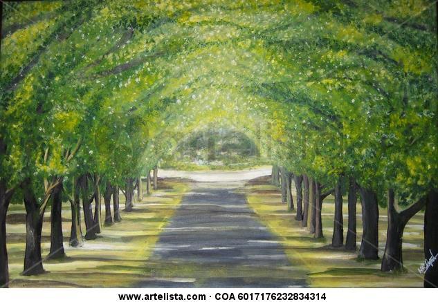 Las Acacias. Canvas Acrylic Landscaping