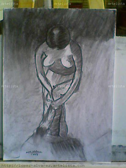 Desnudo Carboncillo