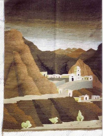 tapices en telar del norte argentino