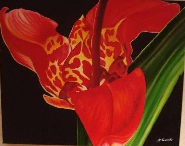 Pasión Óleo Lienzo Floral