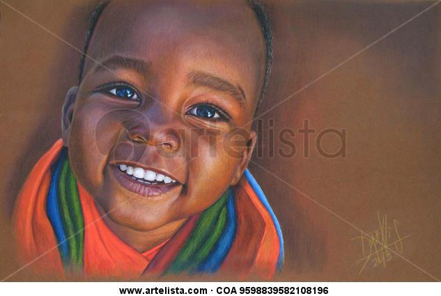 Niño de África 80 Lápiz