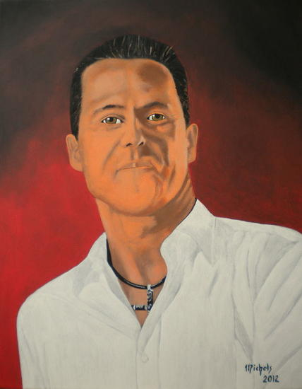 Michael Schumacher Retrato Lienzo Acrílico
