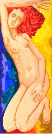DESNUDO Acrylic Panel Figure Painting