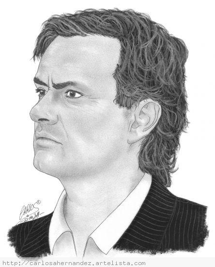 Jose Mourinho Papel Grafito Retrato