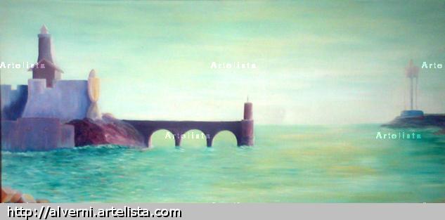 Port vendres Óleo Marina Lienzo