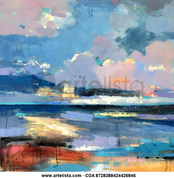 Colorful and mysterious sky 189 Lienzo Óleo Paisaje