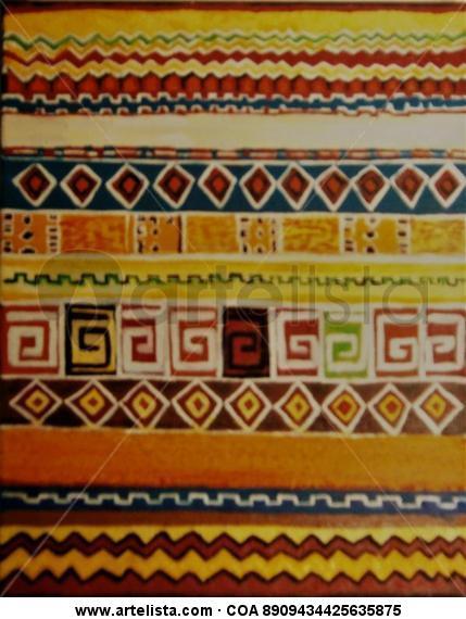Arte textil primitivo marroquí Lienzo Acrílico Figura