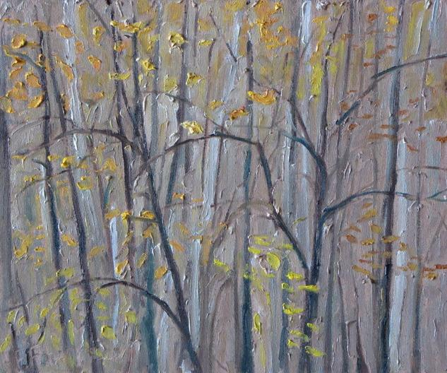 Autumn Leaves Oil Panel Landscaping
