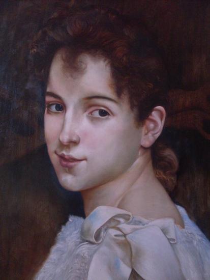 Gabrielle Cot Lienzo Óleo Retrato